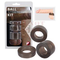 Ball péniszgyűrű és herenyújtó készlet