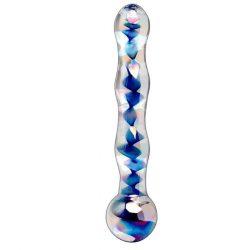 Icicles szivárvány üveg dildó
