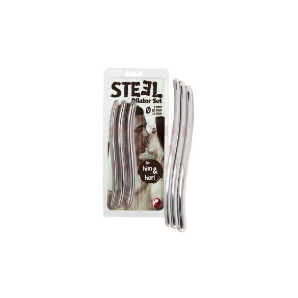 Steel dilator húgycsőtágító - 3 db