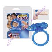 Szilikon vibrációs péniszgyűrű - kék