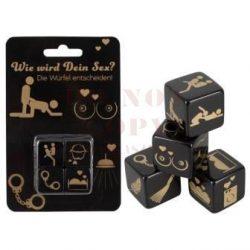 Fekete szex dobókocka - 4 db