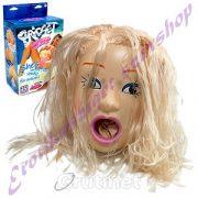 Bridget hajas guminő - 3D arccal
