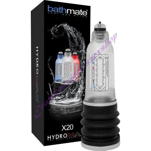 Bathmate Hydromax X20 péniszpumpa - áttetsző