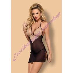 Obsessive Bisquitta fekete babydoll - L/XL