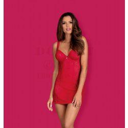 Obsessive Rougebelle piros hálóruha - S/M