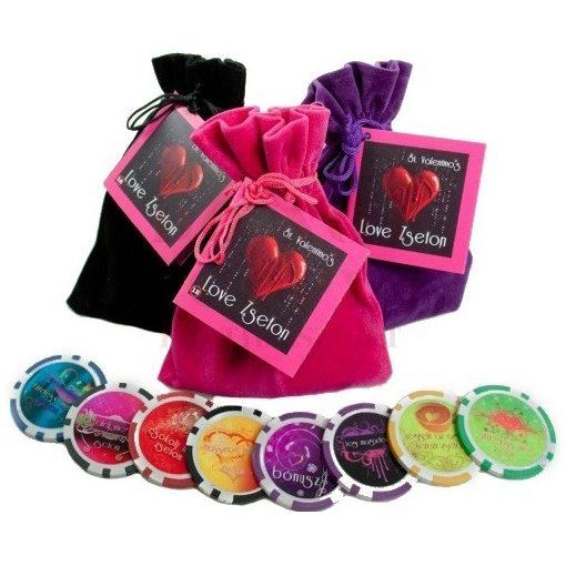 Love zseton színes zsákban