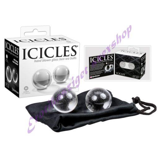 Icicles üveg gésagolyók - közepes