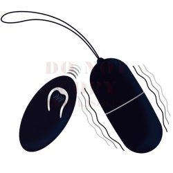 Intense fekete szilikon vibrációs tojás