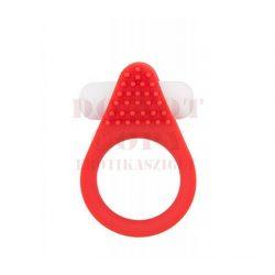 Stimulációs vibrogyűrű szilikonból – piros