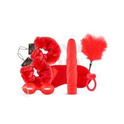 Lovebox vibrátoros piros kötöző szett - 6 részes